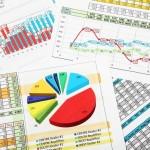 גרפים וטבלאות של הוצאות מימון של עסק