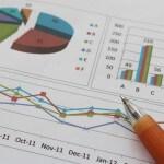 גרף הכנסה של עסק במשבר